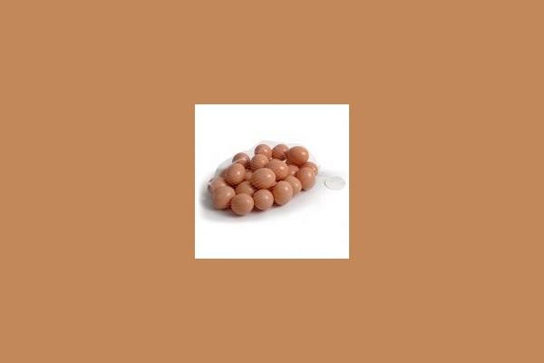 Plastikei, für Legehühner, Braun, 53 mm 170152