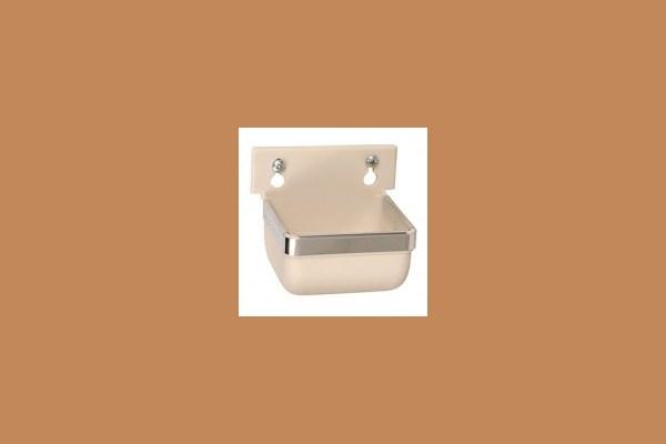 Wandnapf 300 ml (Nylon+Glasfaser) Wandmontage weiss 170200